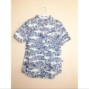 Vinyard Vines For Target Boys Shirt Sharks S/S M